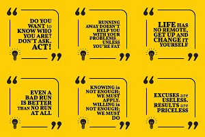 Nine motivational quotes. Set 24/55