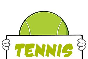 Tennis Ball With Text Tennis