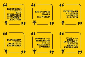 Nine motivational quotes. Set 25/55