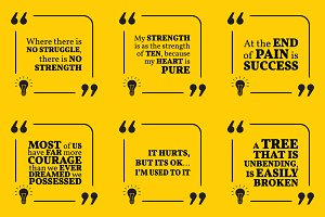Nine motivational quotes. Set 26/55
