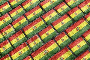 Bolivia Flag Pattern