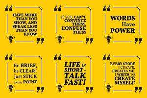 Nine motivational quotes. Set 27/55