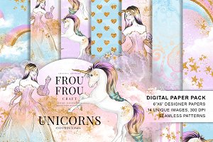 Princess and Unicorns Paper Pack