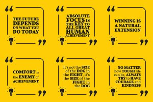 Nine motivational quotes. Set 32/55