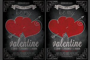 Vintage Valentines Party Flyer