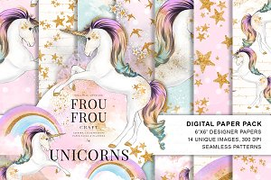 Unicorns and Rainbows Paper Pack
