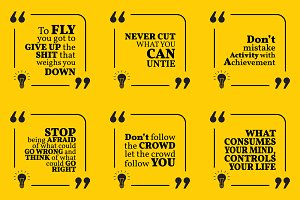 Nine motivational quotes. Set 33/55