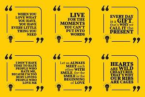 Nine motivational quotes. Set 35/55