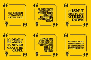 Nine motivational quotes. Set 36/55