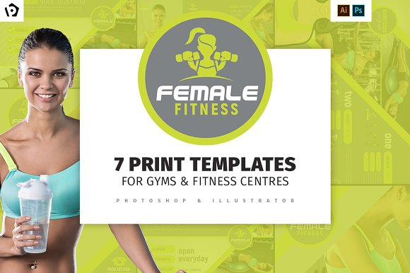 Female Fitness Templates Pack