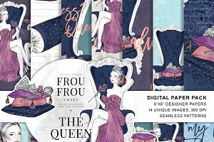 The Queen Fashion Paper Pack