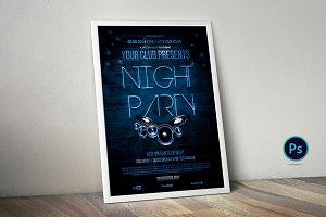 Night Party Flyer Poster