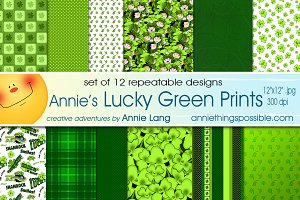 Annie's Lucky Green Prints