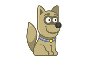 Cartoon Style Funny Animal Dog