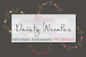 Dainty Spring Wreaths - PNG Pack