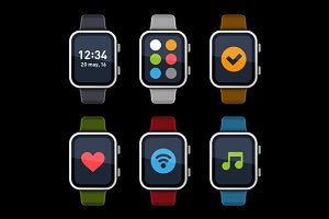 Smart Watch Icons Set