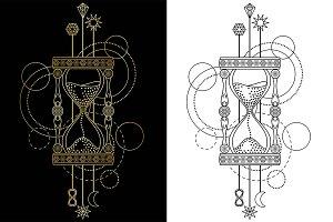 Sandglass Tattoo+Seamless Patterns