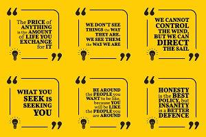 Nine motivational quotes. Set 37/55