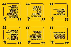 Nine motivational quotes. Set 38/55