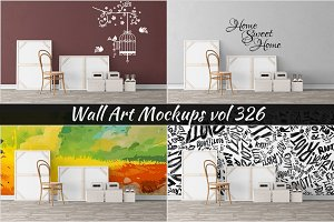 Wall Mockup - Sticker Mockup Vol 326