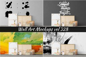 Wall Mockup - Sticker Mockup Vol 328