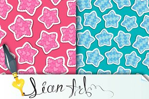2 Fabric textures with stars