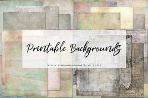 Printable Backgrounds - Set 01
