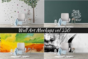 Wall Mockup - Sticker Mockup Vol 330