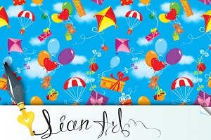 Seamless pattern with colorful gifts
