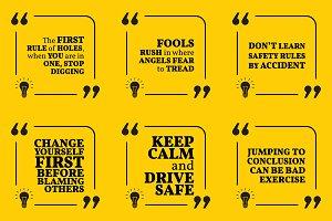 Nine motivational quotes. Set 41/55