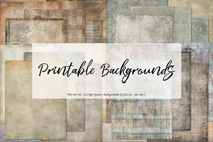 Printable Backgrounds - Set 02