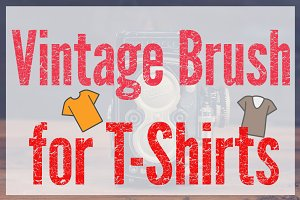 Vintage Distressed T-Shirt Effect