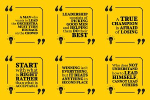 Nine motivational quotes. Set 44/55