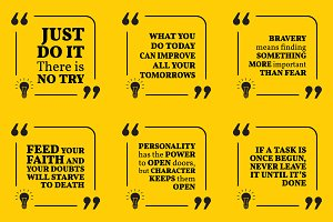 Nine motivational quotes. Set 45/55