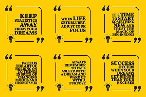 Nine motivational quotes. Set 46/55