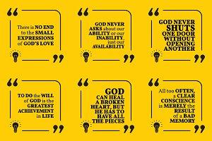 Nine motivational quotes. Set 47/55