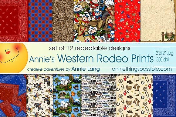 Annie's Western Rodeo Prints