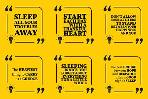 Nine motivational quotes. Set 50/55