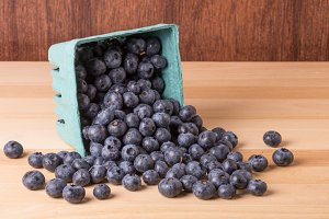 Box of blueberries