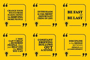 Nine motivational quotes. Set 51/55