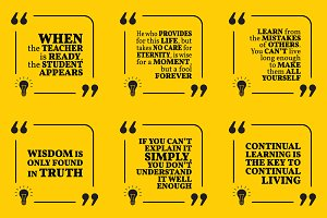 Nine motivational quotes. Set 52/55
