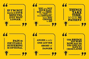 Nine motivational quotes. Set 54/55