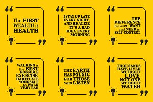 Nine motivational quotes. Set 55/55
