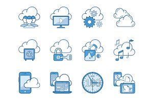 Cloud Services Icons
