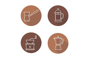Coffee brewing equipment. Vector