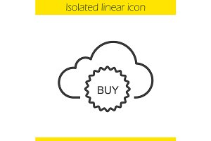 Buy cloud storage space icon. Vector