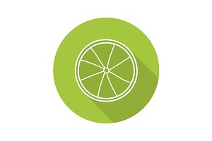 Lime slice icon. Vector