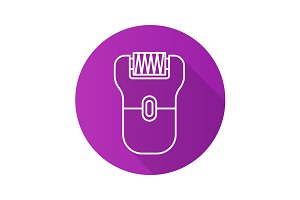 Epilator icon. Vector