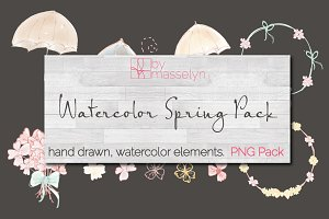 Watercolor Elements - PNG Pack