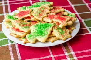 Plate of sugar cookies